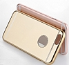 Totu Design Frosted iPhone 6 Plus / 6S Plus Ultra İnce Metalik Gold Silikon Kılıf - Resim: 4