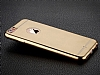 Totu Design Frosted iPhone 6 Plus / 6S Plus Ultra İnce Metalik Gold Silikon Kılıf - Resim: 2