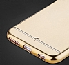 Totu Design Frosted iPhone 6 Plus / 6S Plus Ultra İnce Metalik Gold Silikon Kılıf - Resim: 6
