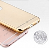 Totu Design Frosted iPhone 6 Plus / 6S Plus Ultra İnce Metalik Gold Silikon Kılıf - Resim: 1
