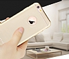 Totu Design Frosted iPhone 6 Plus / 6S Plus Ultra İnce Metalik Gold Silikon Kılıf - Resim: 5