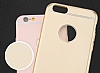 TotuDesign Frosted iPhone 6 Plus / 6S Plus Ultra İnce Metalik Rose Gold Silikon Kılıf - Resim: 2
