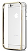Totu Design iPhone 6 / 6S Mellow Series Gold Çizgili Bumper Çerçeve Gold Kılıf - Resim 6