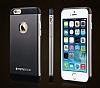Totu Design Knight iPhone 6 Plus / 6S Plus Metal Siyah Kılıf - Resim 2