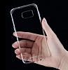 Totu Design Samsung Galaxy S7 edge Silikon Kenarlı Şeffaf Rubber Kılıf - Resim 1