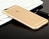 Totu Design Zero Series iPhone 6 Plus / 6S Plus Ultra İnce Gold Rubber Kılıf - Resim: 2