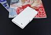 Eiroo Turkcell T50 Cüzdanlı Yan Kapaklı Beyaz Deri Kılıf - Resim 3
