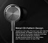 UiiSii Universal Mikrofonlu Gold Kulakiçi Metal Kulaklık - Resim 9
