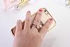 Universal Taşlı Ayak Rose Gold Yüzük Telefon Tutucu - Resim 1