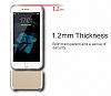Usams Ease Series iPhone 7 Plus / 8 Plus Dark Silver Metal Şeffaf Silikon Kılıf - Resim 7