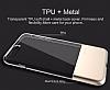 Usams Ease Series iPhone 7 Plus / 8 Plus Dark Silver Metal Şeffaf Silikon Kılıf - Resim 2