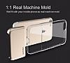Usams Ease Series iPhone 7 Plus / 8 Plus Dark Silver Metal Şeffaf Silikon Kılıf - Resim 6