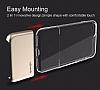 Usams Ease Series iPhone 7 Plus / 8 Plus Dark Silver Metal Şeffaf Silikon Kılıf - Resim 4