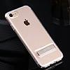 Usams iPhone 7 / 8 Standlı Rose Gold Silikon Kılıf - Resim 1