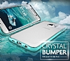 Verus Crystal Bumper Samsung Galaxy S6 Edge Plus Light Silver Kılıf - Resim 2