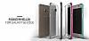 Verus Crystal Bumper Samsung Galaxy S6 Edge Plus Steel Silver Kılıf - Resim 5