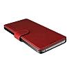 Verus Dandy Layered Leather LG G6 Kırmızı Kılıf - Resim 3