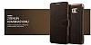Verus Dandy Layered Leather Samsung Galaxy Note 5 Cüzdanlı Kapaklı Siyah Kılıf - Resim 1