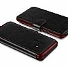 VRS Design Dandy Layered Leather Samsung Galaxy S9 Siyah Kılıf - Resim 2