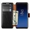VRS Design Dandy Layered Leather Samsung Galaxy S9 Siyah Kılıf - Resim 1