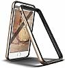 Verus Iron Bumper iPhone 6 / 6S Black + Silver Kılıf - Resim 1