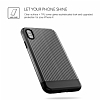 VRS Design Shine Coat iPhone X Siyah Kılıf - Resim 1