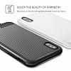 VRS Design Shine Coat iPhone X Siyah Kılıf - Resim 5
