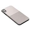 VRS Design Skin Fit iPhone X Light Pebble Kılıf - Resim 1