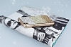 Vestel Venus 5000 Taşlı Geçişli Gold Silikon Kılıf - Resim 2