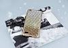 Vestel Venus V3 5010 Taşlı Geçişli Gold Silikon Kılıf - Resim 2