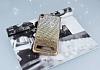 Vestel Venus V3 5020 Taşlı Geçişli Gold Silikon Kılıf - Resim 1