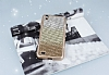 Vestel Venus V3 5040 Taşlı Geçişli Gold Silikon Kılıf - Resim 2