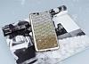 Vestel Venus V3 5070 Taşlı Geçişli Gold Silikon Kılıf - Resim 1