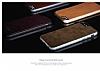 Viva Madrid Avion Classical iPhone 6 / 6S Metal Kenarlı Gold Deri Kılıf - Resim 4