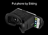 VR BOX Samsung Galaxy S8 Plus Bluetooth Kontrol Kumandalı 3D Sanal Gerçeklik Gözlüğü - Resim 2