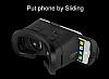 VR BOX iPhone 6 Plus / 6S Plus Bluetooth Kontrol Kumandalı 3D Sanal Gerçeklik Gözlüğü - Resim 6