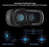 VR BOX Samsung Galaxy Note 4 Bluetooth Kontrol Kumandalı 3D Sanal Gerçeklik Gözlüğü - Resim 7
