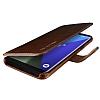 VRS Design Dandy Layered Leather Samsung Galaxy S8 Kahverengi Kılıf - Resim 1