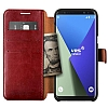 VRS Design Dandy Layered Leather Samsung Galaxy S8 Bordo Kılıf - Resim: 2