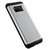 VRS Design Hard Drop Waved Samsung Galaxy S8 Plus Light Silver Kılıf - Resim 2
