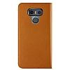 VRS Design Native Diary LG G6 Gerçek Deri Kahverengi Kılıf - Resim 3