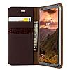 VRS Design Native Diary LG G6 Gerçek Deri Bordo Kılıf - Resim 1