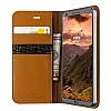 VRS Design Native Diary LG G6 Gerçek Deri Kahverengi Kılıf - Resim 1