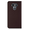 VRS Design Native Diary LG G6 Gerçek Deri Bordo Kılıf - Resim 3