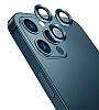Wiwu iPhone 12 Pro Max Mavi Metal Kamera Lens Koruyucu