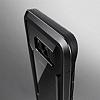 X-Doria Clear Samsung Galaxy S8 Ultra Koruma Siyah Kılıf - Resim 4