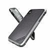 X-Doria Defense Lux iPhone X Ultra Koruma Gri Kılıf - Resim 4