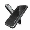 X-Doria Defense Shield iPhone X Ultra Koruma Dark Silver Kılıf - Resim 3