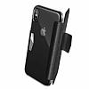 X-Doria Engage Folio iPhone X Manyetik Kapaklı Siyah Gerçek Deri Kılıf - Resim 3