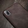 X-Level Vintage iPhone X / XS Deri Kahverengi Rubber Kılıf - Resim 2